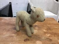 Antique Merrythought Lamb Soft Toy - Rare Collectible