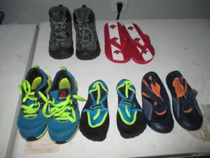5 Pairs of Boys Kids Shoes - Carters Reebok Sizes 10 & 12