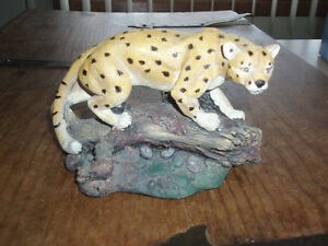 ~ JUST REDUCED THE PRICE ~ WILD LEOPARD ANIMAL SCULPTURE ~