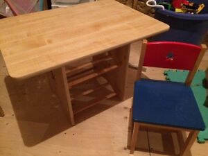 Table, 2chairs, toy storage St. John's Newfoundland image 1
