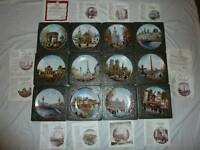 Collectable 'places of France plates'