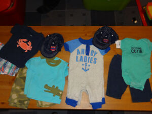 Twin Boy Summer Clothing 0-3 months