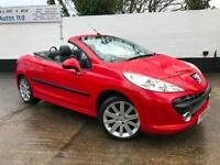 Peugeot 2008 207 Coupe GT CC 1.6 16v Petrol Manual Convertible in Red