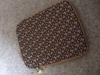 DKNY brown iPad case
