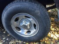 Ford F-150 set of tires on aluminum rims