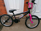 BMX Awesome pink /black girls bike in great working order