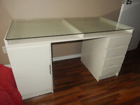 Beautiful Double Top Desk with Drawers