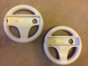 Two Official Nintendo Wii Steering Wheels