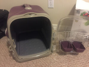 Hard small dog crate