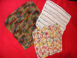 CHUNKY  COTTON DISHCLOTHS - 4 FOR $12