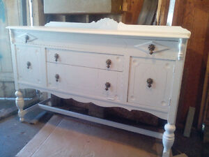 ANTIQUE WHITE PAINTED SIDEBOARD