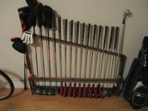 Fishing  & Golf  Rack...Wood Display Floor Rack for set 16  ..