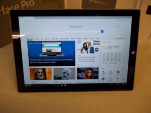 Surface Pro 3 core i5, 4GB Ram, 128GB SSD with Keyboard or Pen