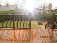 deck fence wood and aluminium