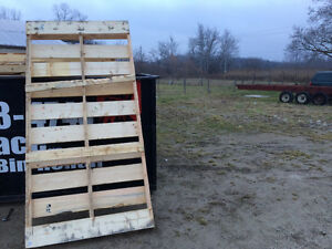 Skids 8'x4' Hardwood Kitchener / Waterloo Kitchener Area image 1