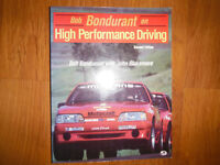 Bob Bondurant On High Performance Driving Signed Copy 1987