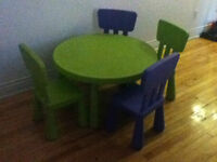 Table et chaises enfants collection MAMMUT Ikea