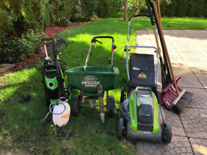 *Moving Sale* Electric Lawn Mower & Garden Equipment