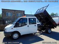 2007 07 FORD TRANSIT TIPPER, CEW CAB, DROPSIDE, DOUBLE CAB, 6 SPEED, 1 OWNER.