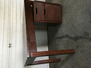 Desk and file cabinet