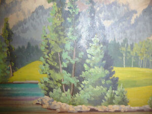 "Jean Cameron ""Lac Beauvert"" Original Oil Painting 1945 Stratford Kitchener Area image 5"