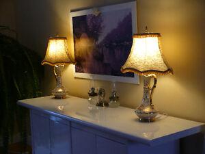 2 RARES LAMPES ANTIQUES (de Table ou de Chevet)