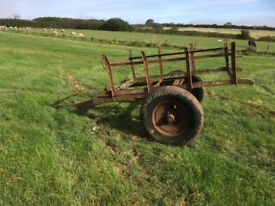 Rustic relic, single axle horse cart fitted with drawbar