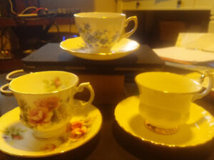 English bone china cups and saucers various patterns
