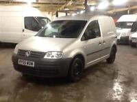 2005 silver Volkswagen Caddy 1.9TDI 112k air con electric Windows roof rack