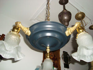 ANOTHER GREAT 1920-30'S HANGING LIGHT FIXTURE