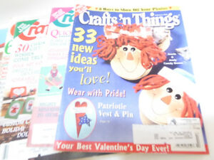14 CRAFT MAGAZINES FROM 1982 - 2002