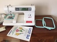 Brother PE-200 embroidery machine