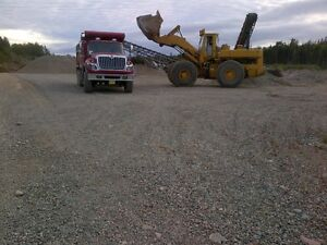 """crushed 2"""" stone or 3/4"""" gravel by the tandem load"""
