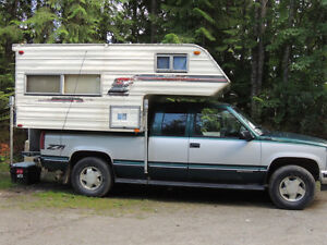 1996 GMC 4 by 4 and camper for trade