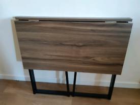Cherry Tree Furniture Compact Foldable Computer Desk Laptop Desktop Ta