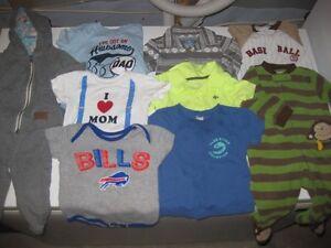 Box of Baby Boy Clothes