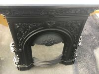 Cast iron fireplace insert. Sizes in photos