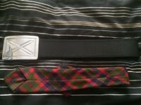 Kilt belt & tie for sale