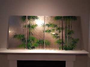 Hand painted gold leaf wall hanging
