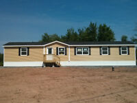 $298 Biweekly, 3 bedroom 2 bath mini home 1 acre lot.
