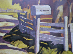 """Full Signature  A.J.Casson """"Country Road"""" Print Kitchener / Waterloo Kitchener Area image 5"""