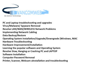 Onsite Computer/Laptop/Network Services