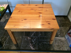 Two coffee tables and a desk
