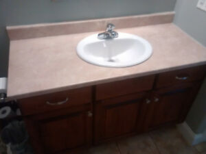 Vanity Counter top with Sink and Taps