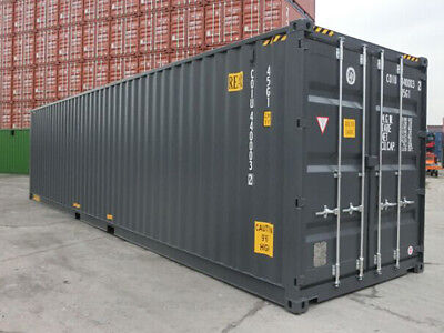 """40ft high cube  (9´6 high) New """"One-trip"""" shipping container, Detroit, Michigan"""