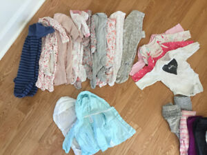 Baby girls clothing (used) - NB up to 6 months (over 100 pieces)