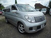 NISSAN ELGRAND CAMPERVAN WITH REAR CONVERSION AND ELECTRICS