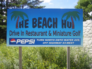 THE BEACH HUT - summer dine-in/take-out restaurant & ice cream