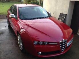 ALFA ROMEO 159 2.0 16V TI 4RD SALOON STUNNING RED FULL LEATHER