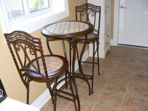 3 Piece Bar Table and Chairs